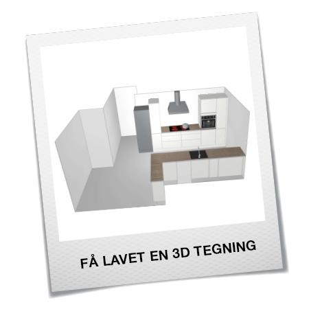 Få lavet en 3D tegning af dit køkken